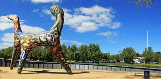 Angel - Deborah Halpern's Art Sculpture - Birrarung Marr Parkland - Melbourne