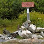 South peak of Moose mountain. Remains of Fairchild airplane. Appalachian Trail, USA
