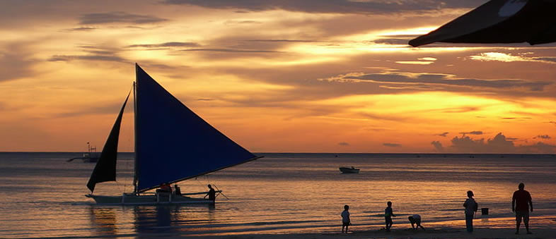 Boracay - Philippines - Asia travel - sunset - beach