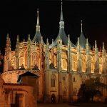 Kutná Hora - St. Barbara Church at the night - Czech Republic