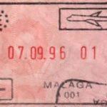 Malaga Airport passport stamp, Spain