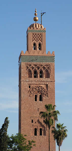 Marrakech - Minaret in Marrakech - Morocco