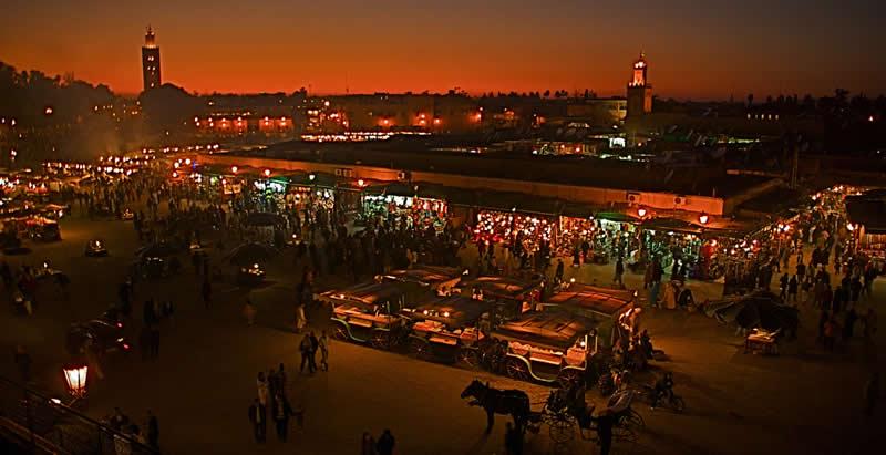 Marrakech - Morocco - spices - market - the souks