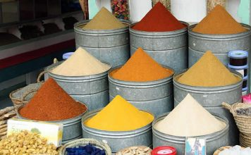 Marrakech - Morocco - spices - market - the souks