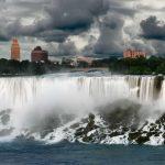 Niagara Falls before a rain storm