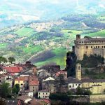 Panorama with the Bardi Castle - Italy