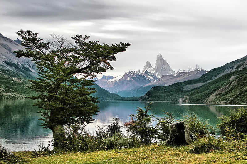 Desert Lake and Mt. Fitz Roy, Santa Cruz Province