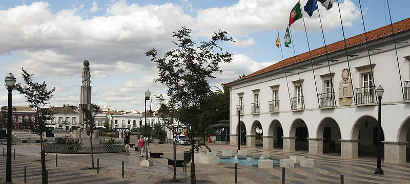 Praca da Republica in Tavira, Portugal