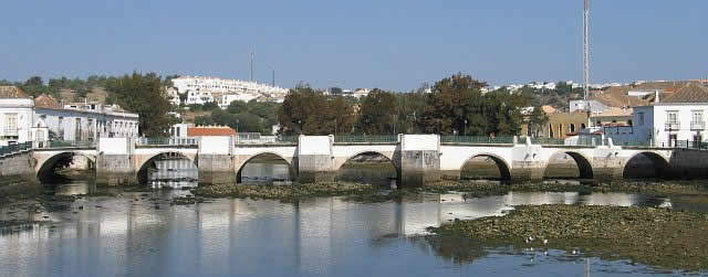 Roman bridge in Tavira, Algarve, Portugal