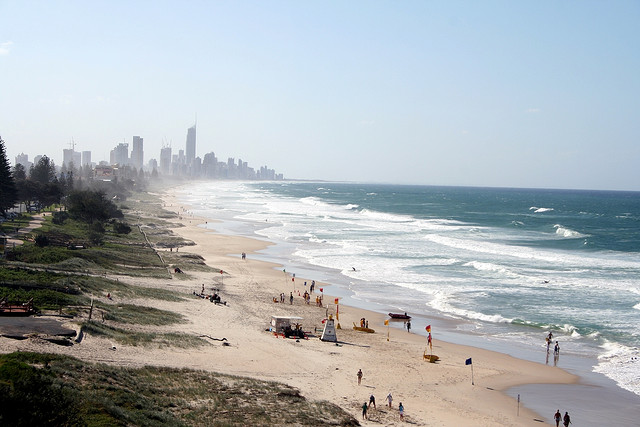 Surfers Paradise as seen from North Burleigh Heads - travel - Gold Coast, Qeensland, Australia