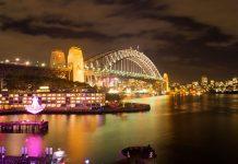 Sydney Harbour Bridge (Vivid Sydney 2012) - Travel Australia - Event - Vivid Sydney Festival