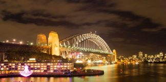 Sydney Harbour Bridge (Vivid Sydney 2012) - Travel Australia - Event - Vivid Sydney Festival