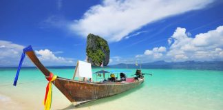 Thailand - Beach - Asia travel - Thai boat in south of Thailand