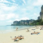 West Rai Leh? (Railay) beach of Rai Leh (Railay) bay in Krabi, Thailand
