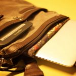 Travel shoulder bag with gadgets