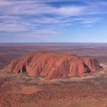 Uluru - Ayers Rock from a Helicopter - Australia travel - Outback