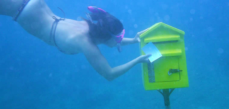 Vanuatu - Hideaway Island - Underwater Postbox | Australian Travel and Activity Community - Go For Fun
