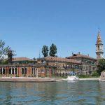 Venice - Italy - Poveglia Closeup of Hospital in the Lagoon of Venice
