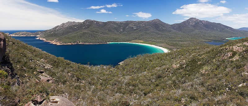 Wineglass Bay from Lookout - travel - Tasmania, Australia