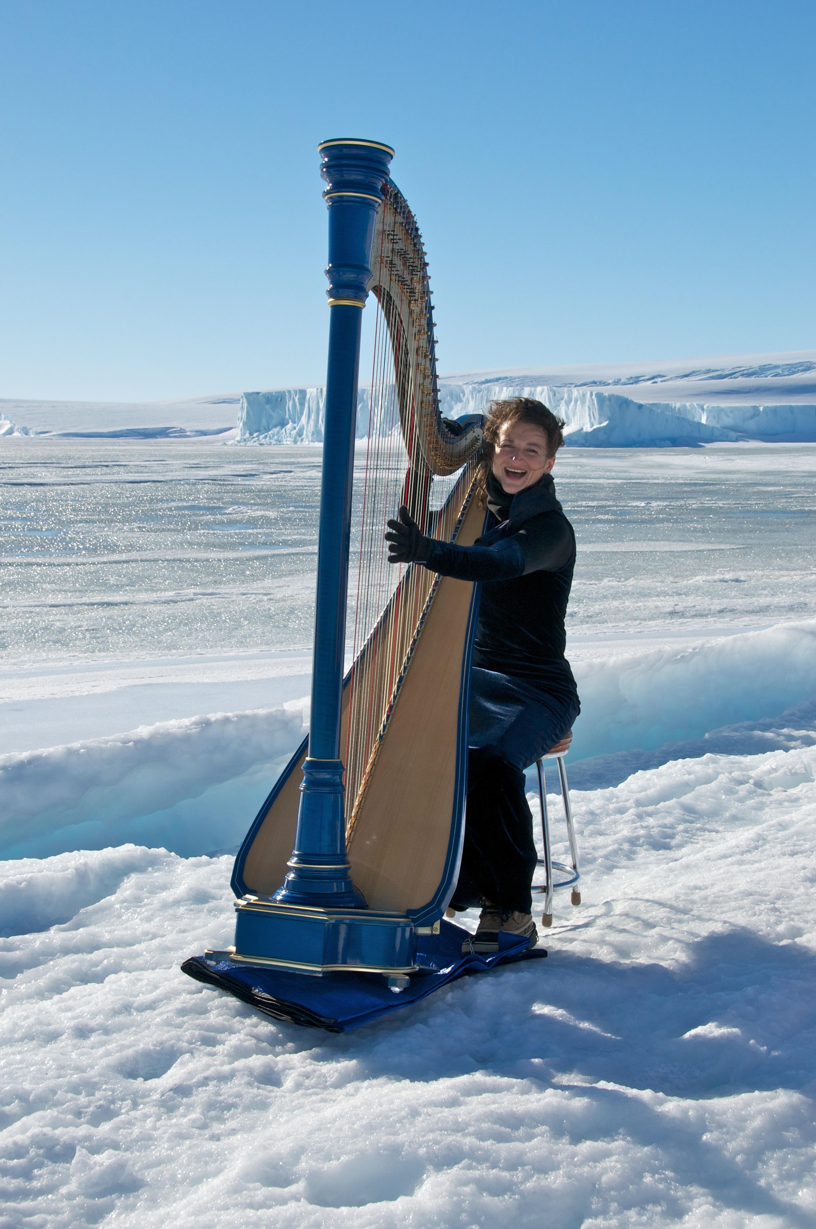 Antarctica trip, harp music