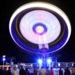 fairground at night - light trail - long exposure