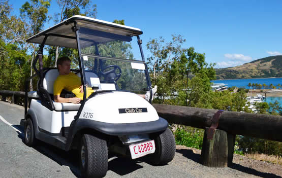 Hamilton Island (Queensland, Australia), transport, buggies