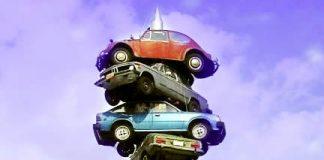 Parking Scuplture Chicago, USA - Travel the World - Parking a Car