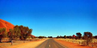 Road near Uluru- Ayers Rock - Australia travel - Outback