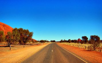 Road near Uluru- Ayers Rock - Australia travel - Outback
