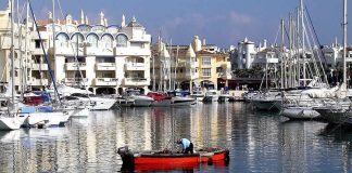 Harbour of Benalmadena, Malaga, Spain