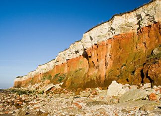Sea cliffs at Hunstanton, Norfolk, Travel UK