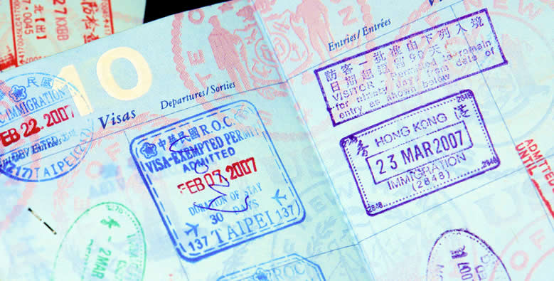 Travel visa in a passport | Go For Fun - Australian Travel and Activity Community - Travel, Photography and Fun