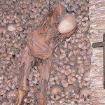Skeletons in the Bone Chapel (Evora, Portugal)