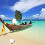 Thailand - Beach - Asia travel - Thai boat in south of Thailand