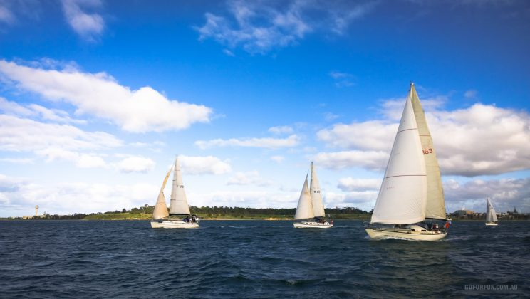 Royal Geelong Yacht Club - sailing - sailboat racing - Davidsons Winter Series - Race 1