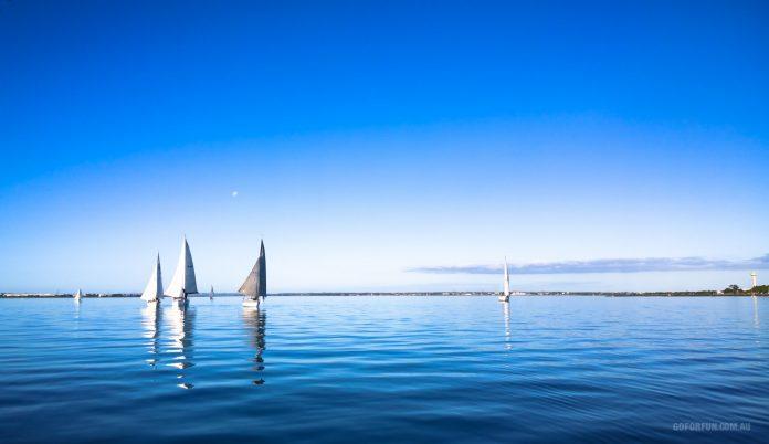 Sailboat Racing at Royal Geelong Yacht Club - Sailing Yacht Photography - Davidsons 2016 Winter Series - Race 4