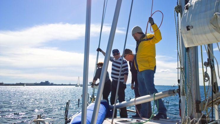 Sailboat Racing at Royal Geelong Yacht Club - Sailing Yacht Photography - Davidsons 2016 Winter Series - Corio Bay - Race 7