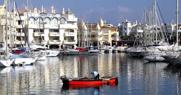 Harbour of Benalmadena, Malaga, Spain