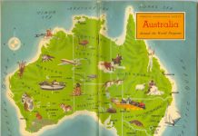 Travel around Australia - map